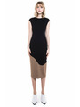 CONTRAST PANEL KNIT DRESS