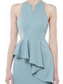 DIAGONAL PEPLUM SLEEVELESS DRESS