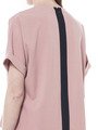CONTRAST PANELLED BLOUSE