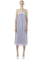 PLEATED STRAPLESS DRESS