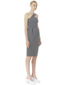 DIAGONAL STRAP FITTED DRESS