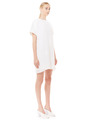 PLEATED SHOULDER TEE DRESS