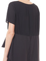 PLEATED LONG BACK BLOUSE