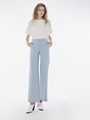 WIDE LEGGED CREPE PANTS