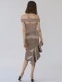 PLUMETTE ASYMMETRICAL DRESS