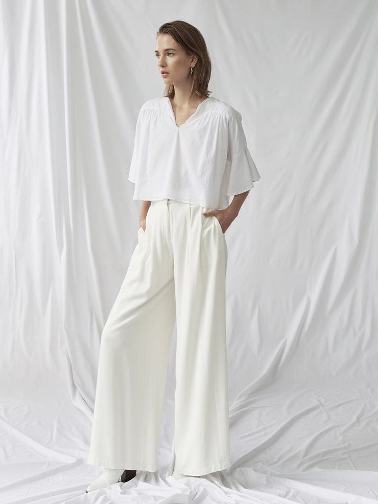 VISCOSE WIDE LEGGED PANTS