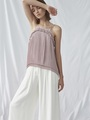 TIERED PLEATED CAMI TOP