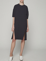 BOXY DRESS WITH BALLOON SLEEVES