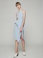 FRONT SLIT PEPLUM DRESS