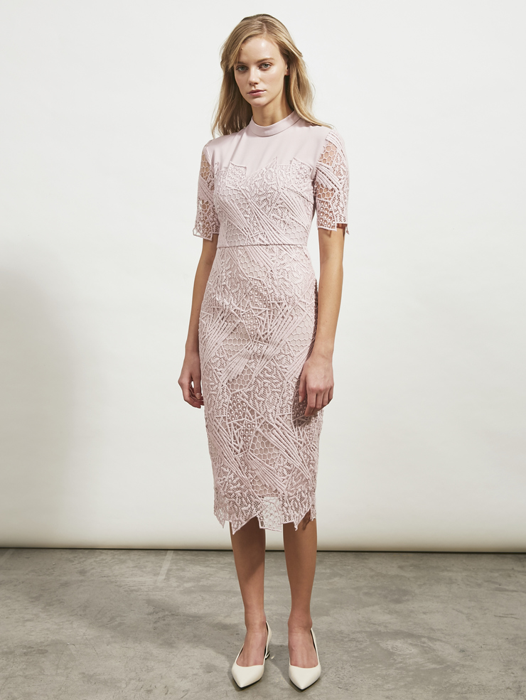 Jigsaw Collared Lace Dress