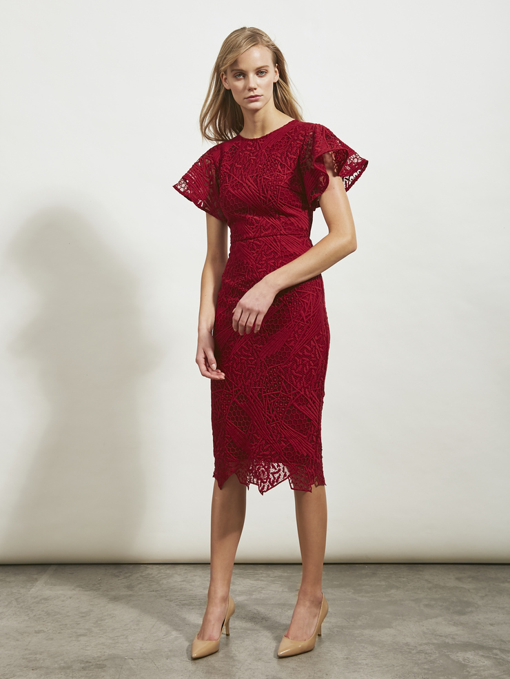 Jigsaw Fitted Lace Dress