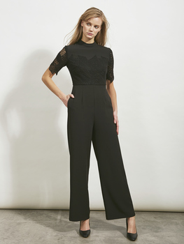 Jigsaw Collared Lace Jumpsuit