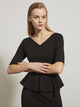 V-Neck Peplum Dress