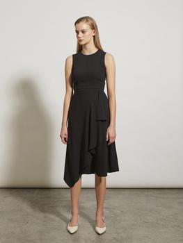 Flounced Wrap Dress