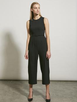 Belted Crepe Jumpsuit