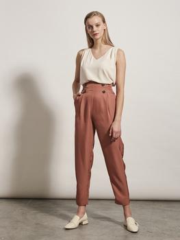 Button Detail Pants