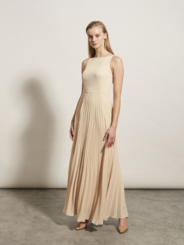 Sunray Pleat Maxi Dress