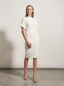 Flare-Sleeve Pencil Dress