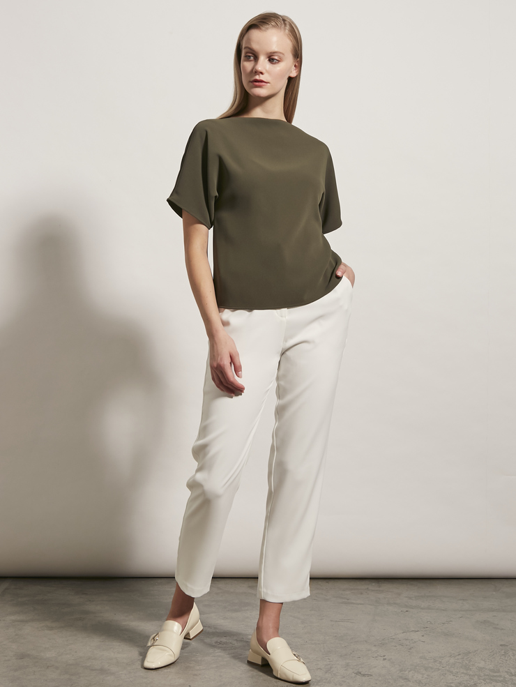 Two-Way Crepe Blouse